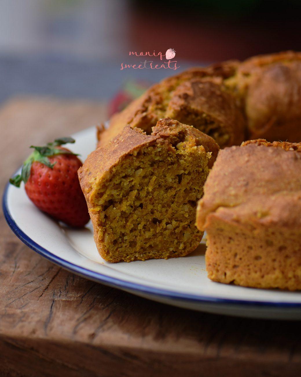 Pão de abóbora e laranja